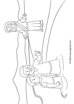 Free Bible Coloring Page Behold The Lamb Of God Jesus And John