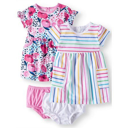 NEW Sweet /& Soft Baby Toddlet Girls Kint Rompers Blue Polka Dots 18M