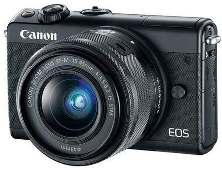 Canon Eos M100 Black And Ef M 15 45mm F 3 5 6 3 Is Stm Lens Black Mirrorless Camera Canon Eos Best Camera