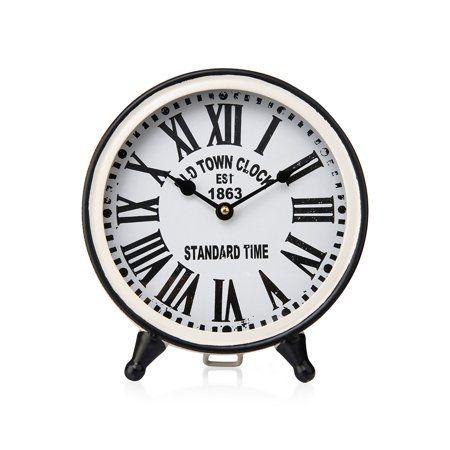Home Clock Tabletop Clocks White Clocks