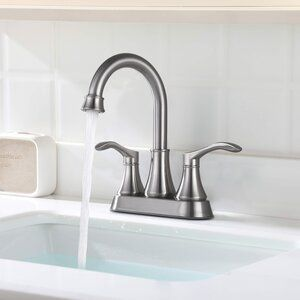 Renist Drown Stainless Steel Centerset Bathroom Faucet With Drain Assembly Wayfair In 2020 Bathroom Faucets Bathroom Sink Faucets Faucet