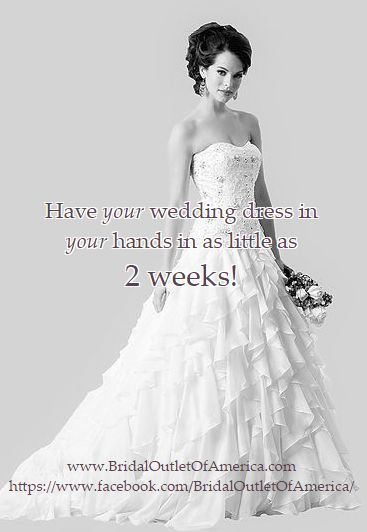 Fresh Bridal Outlet Of America sells brand new designer wedding gowns at discount prices All of