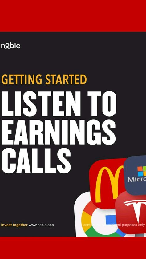listen to earning calls