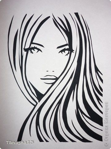 Trendy silhouette art painting face ideas