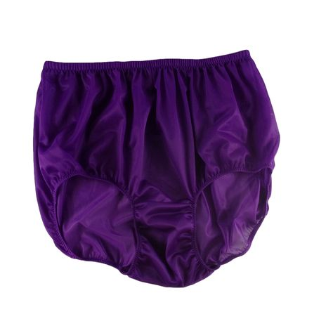 a1a1fe01a8a NN12 Deep Purple Women Vintage Style Panties HI-CUTS Briefs Nylon Knicker