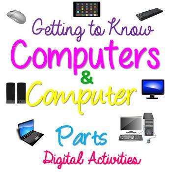 Parts Of The Computer Computer Parts Sorting Binary Code Digital Activity Digital Activities Teaching Computers Kids Computer