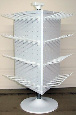 Counter Top Peg Board Spinner Rack Display 3 Sided With Hooks