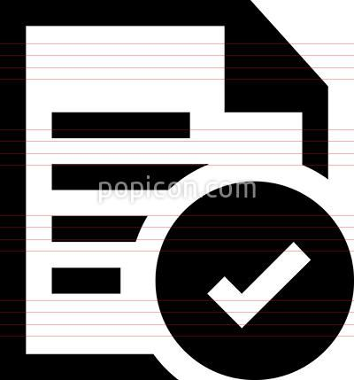 Approved Document Vector Icon in 2019   Office Icons