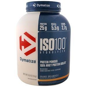 dymatize nutrition iso 100 加水分解 100 ホエイタンパク質アイソレート オレンジドリームシクル 5ポンド 2 3kg whey protein isolate isolate protein whey isolate protein powder