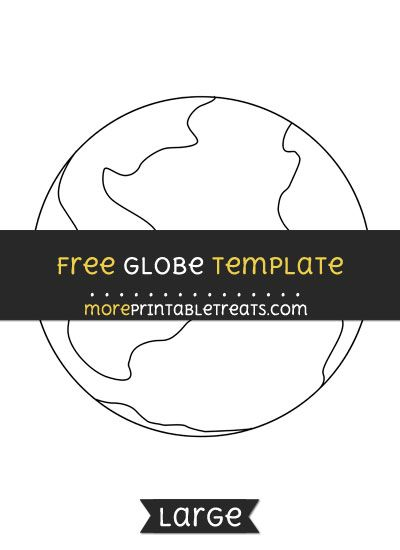 picture about Printable Globe Template identified as Free of charge Earth Template - High Styles and Templates