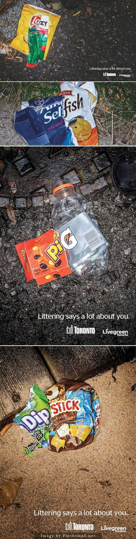 Clever Anti-Littering Ads Use Trash To Mock Litterers