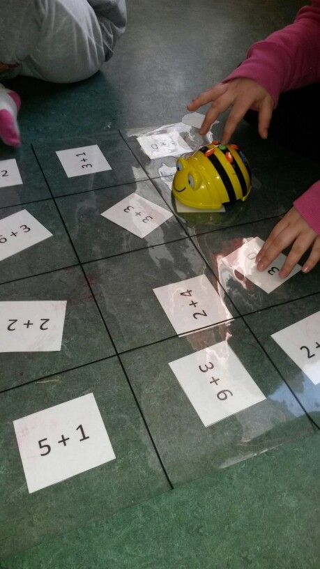Beebot and math. A clear piece of plastic marked into the appropriate squares then change the questions underneath. Children code the beebot's journey to count by the answers eg. By 1, 2, 5 etc