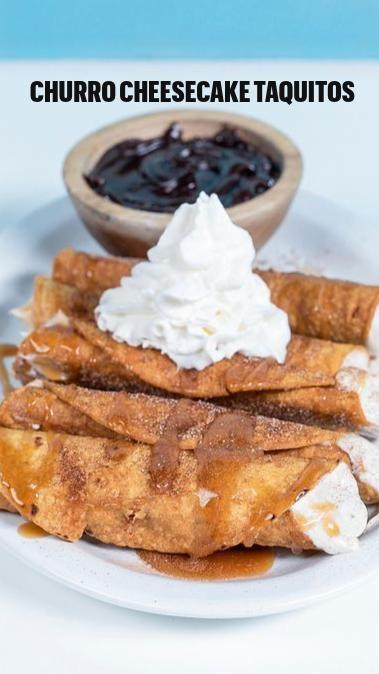 Churro Cheesecake Taquitos | Taquitos Recipe | Cinco De Mayo Recipe | Cooking Panda