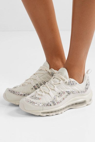 Nike Air Max 98 Lx Faux Leather Trimmed Embellished Pvc And Mesh