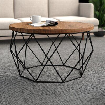 Ahart Coffee Table In 2020 Round Coffee Table Living Room Retro