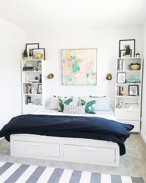 brimnes daybed :: ikea brimnes :: guest room :: abstract art