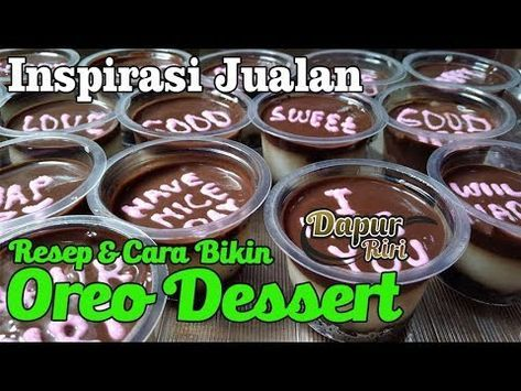 Oreo Dessert Box Versi Cup Mini Ala Dapur Riri Inspirasi Untuk Jualan Youtube Oreo Desserts Makanan Penutup Mini Kue Keberuntungan