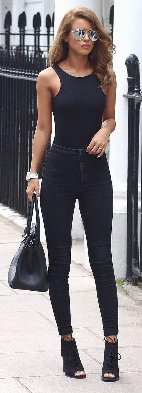 And all-black outfit AND silver reflective sunglasses?     This is for when a…