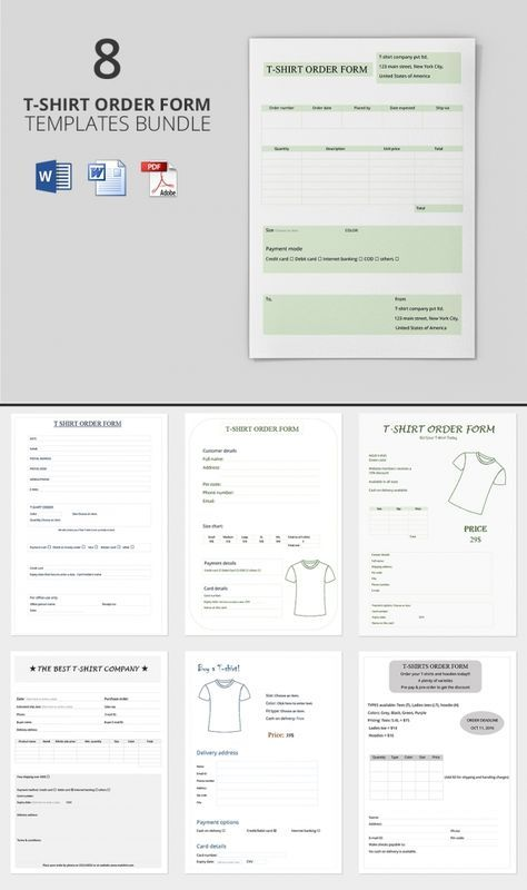 Freebie Of The Day T Shirt Order Forms 8 Templates Shirt Order Order Form Order Form Template