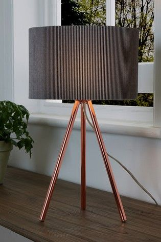 Mila Tripod Table Lamp Lamps In 2019 Copper Table Lamp