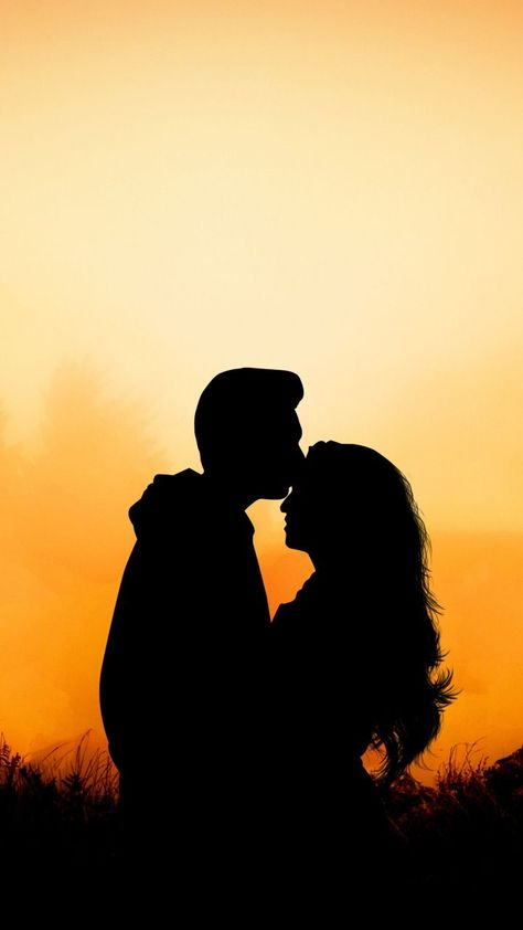 Couple, hug, kiss, love, outdoor, sunset, 720x1280 wallpaper -  - #Couple