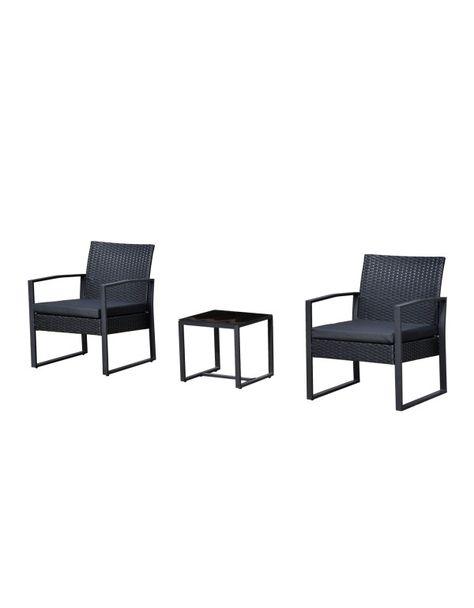 Sedie Per Esterno In Rattan.Outsunny Set Mobili In Rattan Da Esterno Tavolino Con 2 Sedie Con