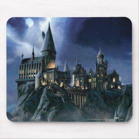 Harry Potter Castle Moonlit Hogwarts Mouse Pad Harry Potter Zazzle Harry Potter Castle Harry Potter Harry Potter Costume