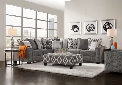 Carole Court Gray 5 Pc Sectional Living Room Living Room Sets