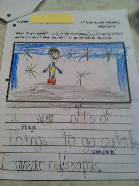 Busy Bees: January Kindergarten Writing Samples