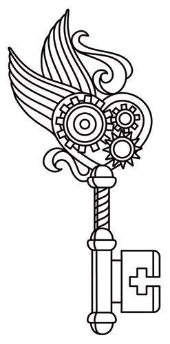 clockwork key design uth6606 from urbanthreads