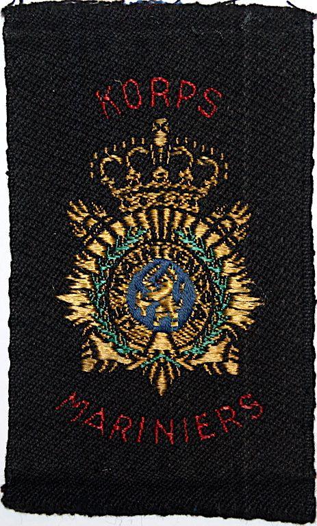 Korps Mariniers Mouwembleem geweven 1ste model 1945 Netherlands Marines