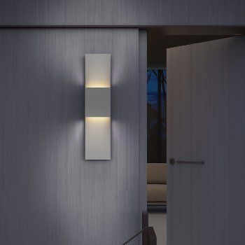 Flat Box 2 Light Indoor Outdoor Led Panel Sconce In 2020 Sconces Sonneman Lighting Wall Lamp Design