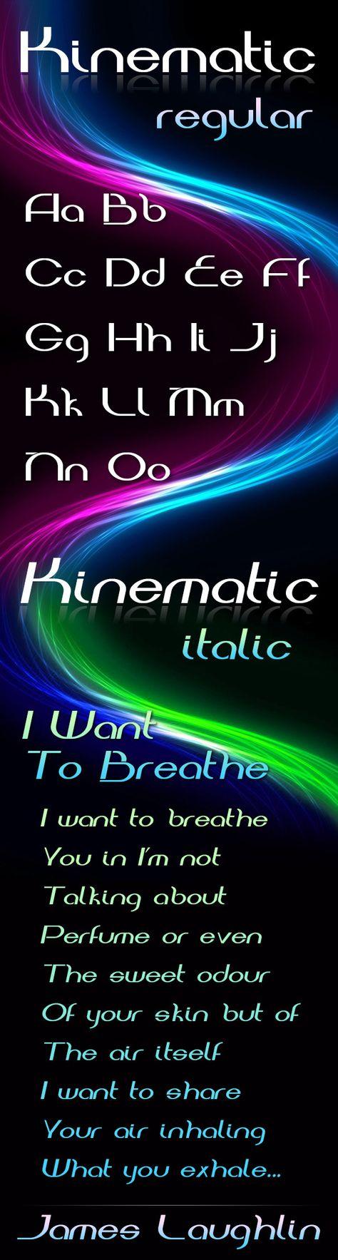 Kinematic #Font - #Decorative Fonts Download here: https://graphicriver.net/item/kinematic-font/4708192?ref=alena994