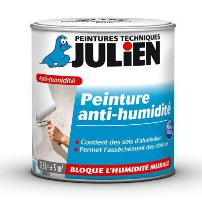 Peinture Anti Humidite Murs Interieurs Julien Blanc Satine 0 5l En 2020 Peinture Anti Humidite Humidite Mur Et Anti Humidite