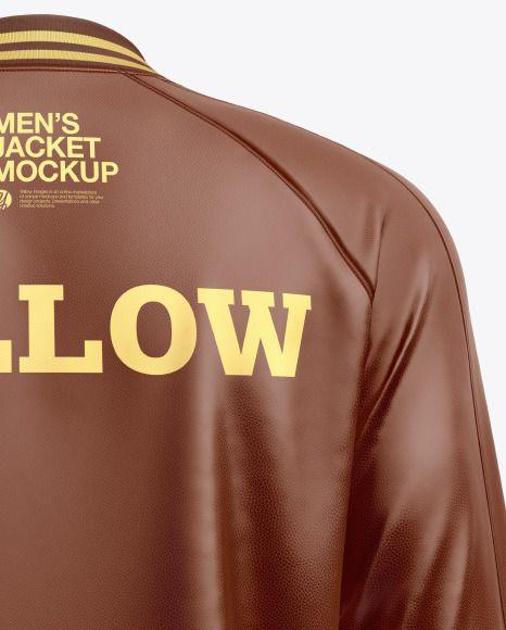 Download Men S Leather Bomber Jacket Mockup In Apparel Mockups On Yellow Images Object Mockups Mens Leather Bomber Jacket Leather Bomber Jacket Clothing Mockup