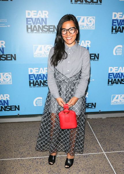Ali Wong is seen arriving to the Los Angeles opening night performance of 'Dear Evan Hansen' at Ahmanson Theatre.