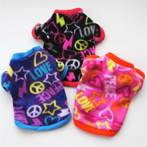 Cute Skull Print Pet Dog Clothes Winter Warm Fleece Pet Coat For Small Dogs French Bulldog Puppy Dog Clothing Chihuahua Clothes - L 1 / S