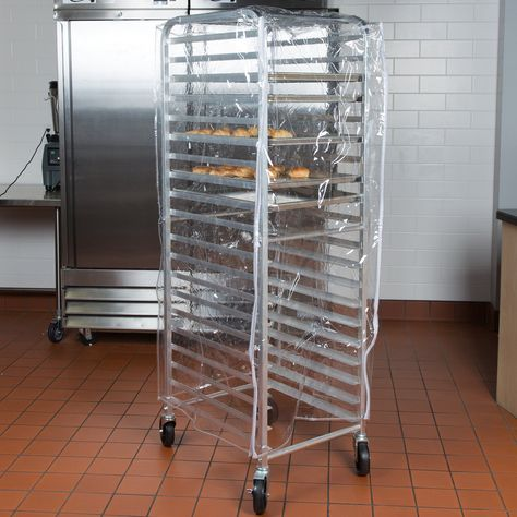 Regency 63 Clear 8 Mil Full Size Plastic Bun Pan Rack Cover With