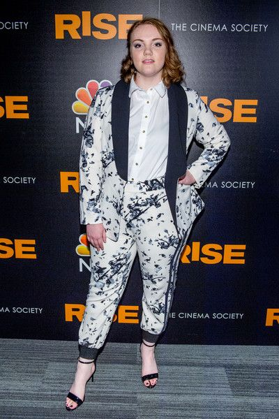 Shannon Purser attends the 'Rise' New York premiere at Landmark Theatre.