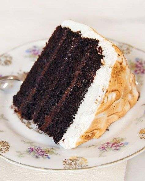 Chocolate Cake with Malted Chocolate Ganache and Toasted Marshmallow Frosting Recipe--good heavens, somebody help me!