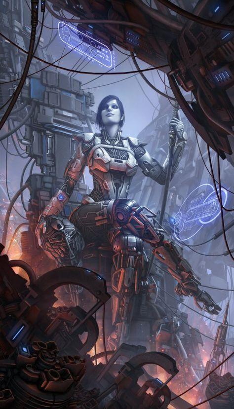 Quark Masters Tumblr | Cyberpunk kunst, Futuristische