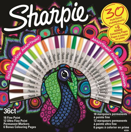 Sharpie Special Edition 30 Pack Permanent Markers Walmart Canada Sharpie Colors Sharpie Coloring Pages