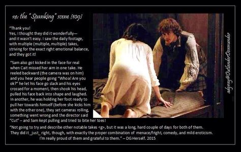 Herself's (Diana Gabaldon) thoughts on the controversial Spanking scene | Outlander S1bE9 'The Reckoning' on Starz
