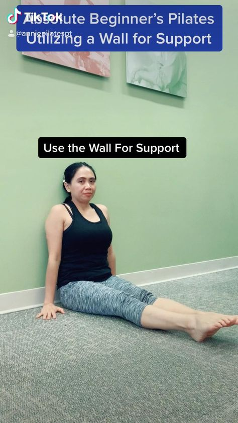 Pelvic Floor Pelvic Floor with Back Pain & Weakness? Pilates Utilizing the Wall for Support