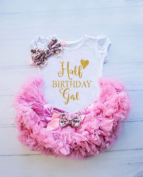 Half Birthday Girl Outfit Shirt 6 Months