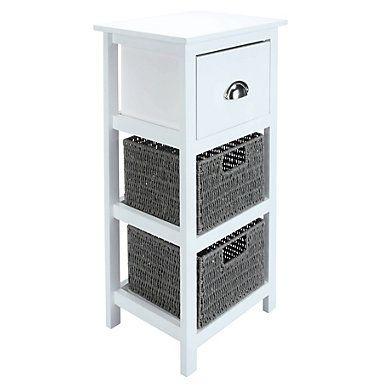 Meuble Appoint 3 Tiroirs Colony Blanc Home Office Decor Locker Storage Storage