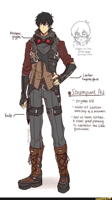 Steampunk Keith in the age of twenty from Voltron Legendary Defender