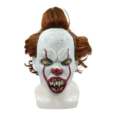 Red Stephen King/'s It Clown Pennywise Mask Adult Halloween Horrible Cosplay Mask