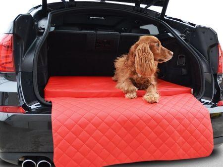 Auto Hundematratze Travelmat City Hunde Reisebett 110 X 90 Cm Rot