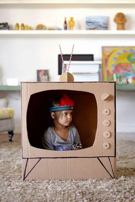 Ongekend DIY: 15x knutselen met karton | Knutselen karton, Zelf speelgoed CK-56
